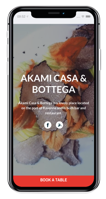 Automatic website of your restaurant