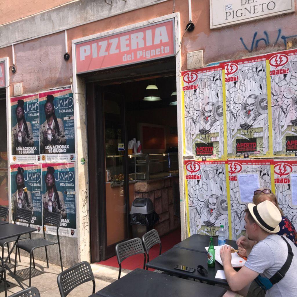 Pizza place Diner Restaurant Fast Food Sandwich Shop Pizzeria Del Pigneto Prenestino