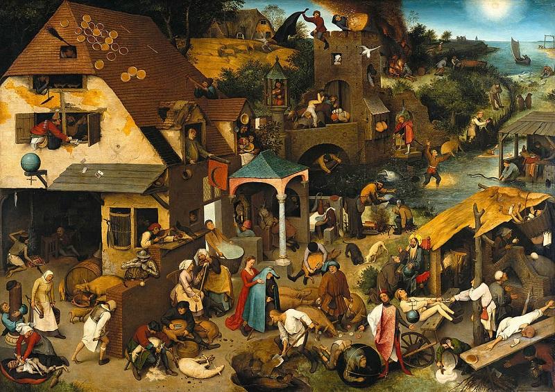 """Pieter Bruegel il Vecchio """"Proverbi fiamminghi"""""""