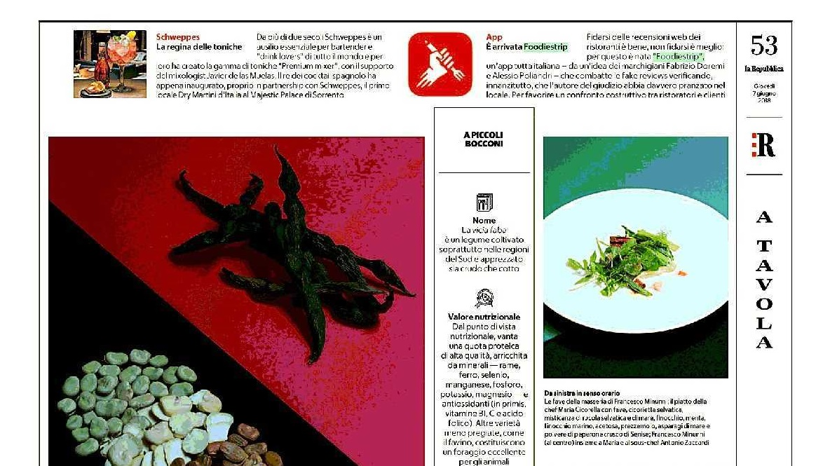 ", FOODIESTRIP ON ""LA REPUBBLICA"", Foodiestrip.blog"